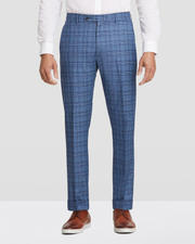 Noah Glen Plaid Flat Front Trousers