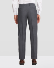 Devon Flat Front Plaid Trousers