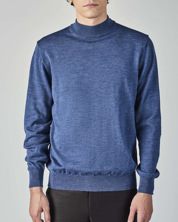Merino Mock Neck Sweater