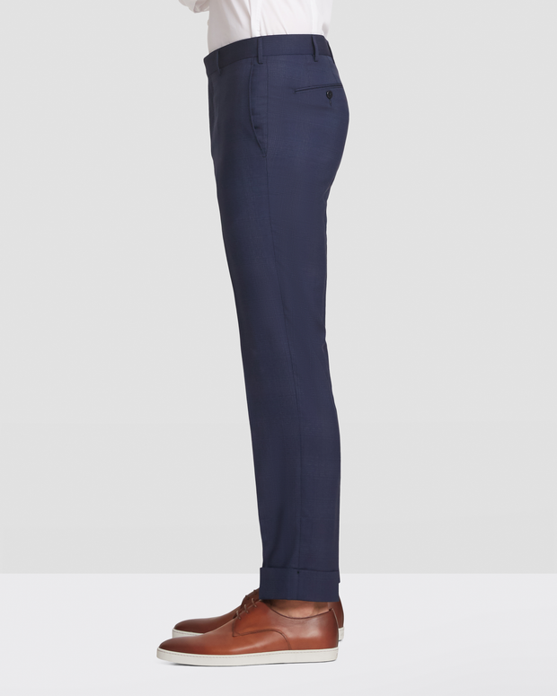 Curtis  Glen Plaid Slim Fit Wool Trouser