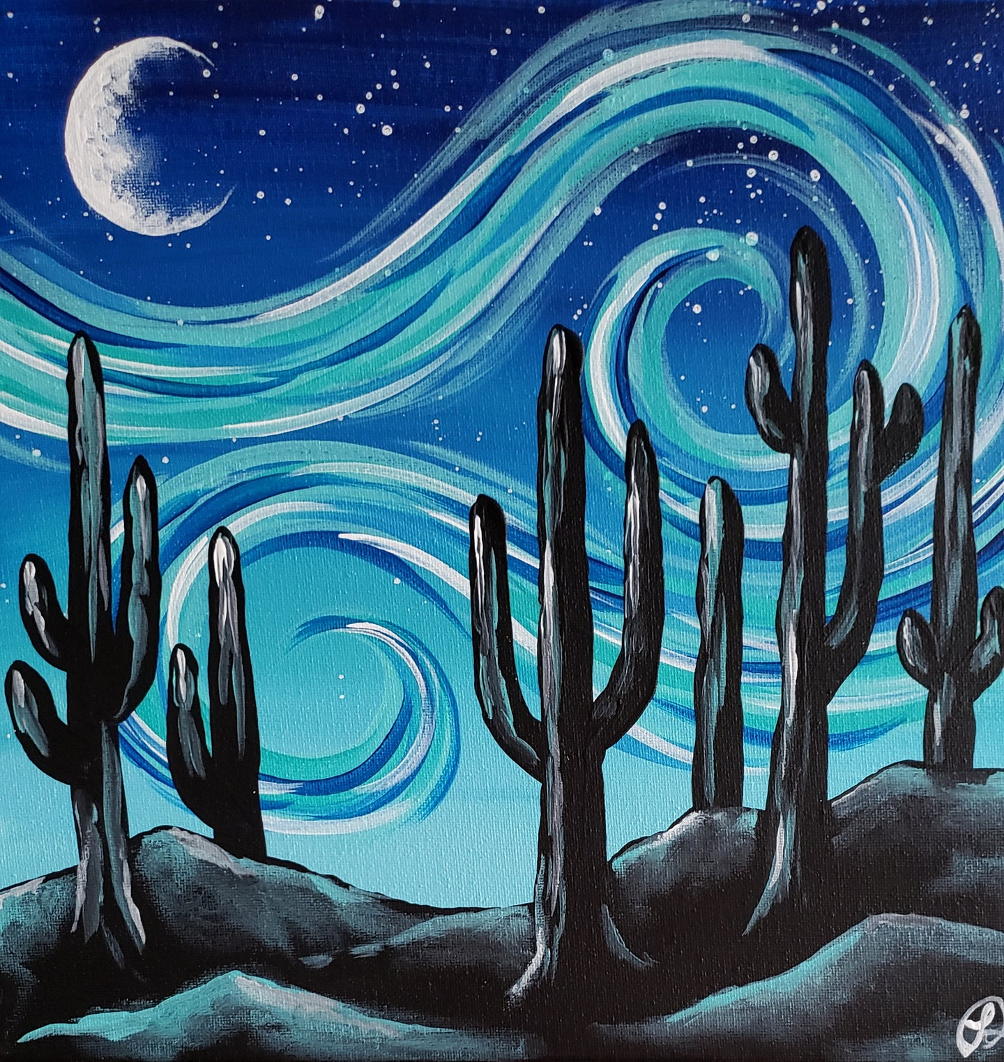 Art Box - Starry Night Saguaros
