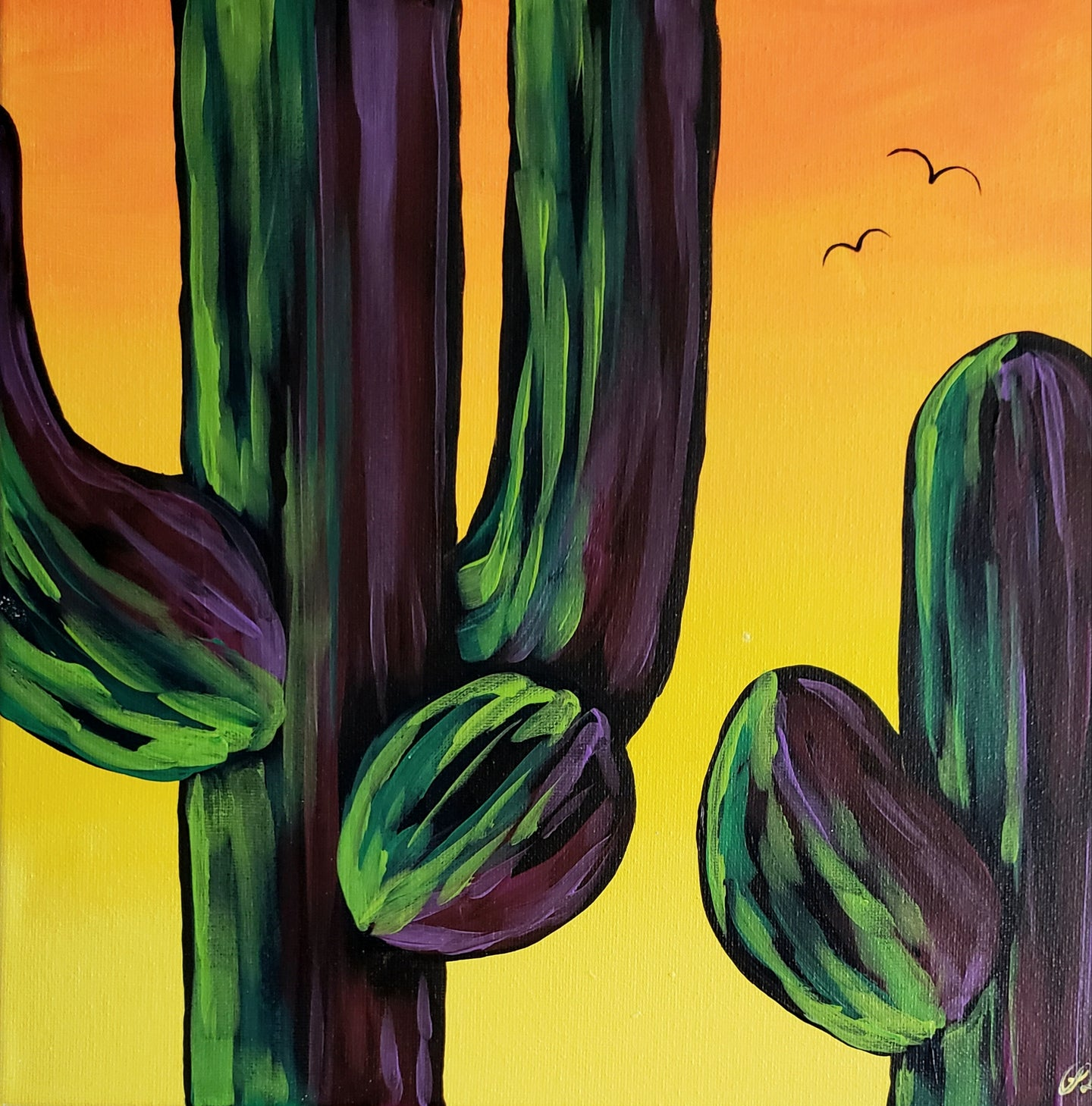 Art Box - Sunset Saguaros