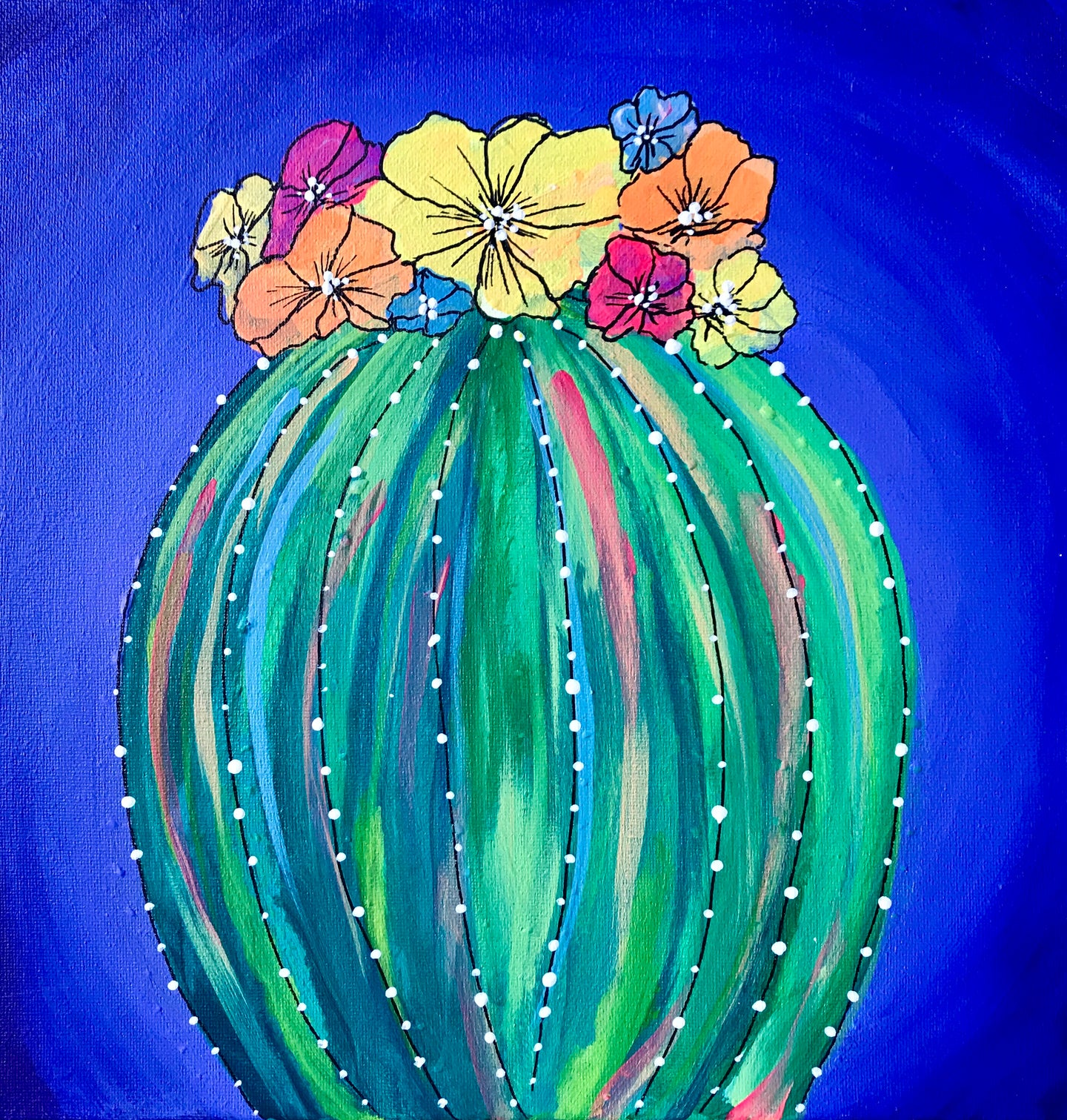 Art Box - Flowered Cactus