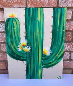 Saguaro in Bloom Painting Kit