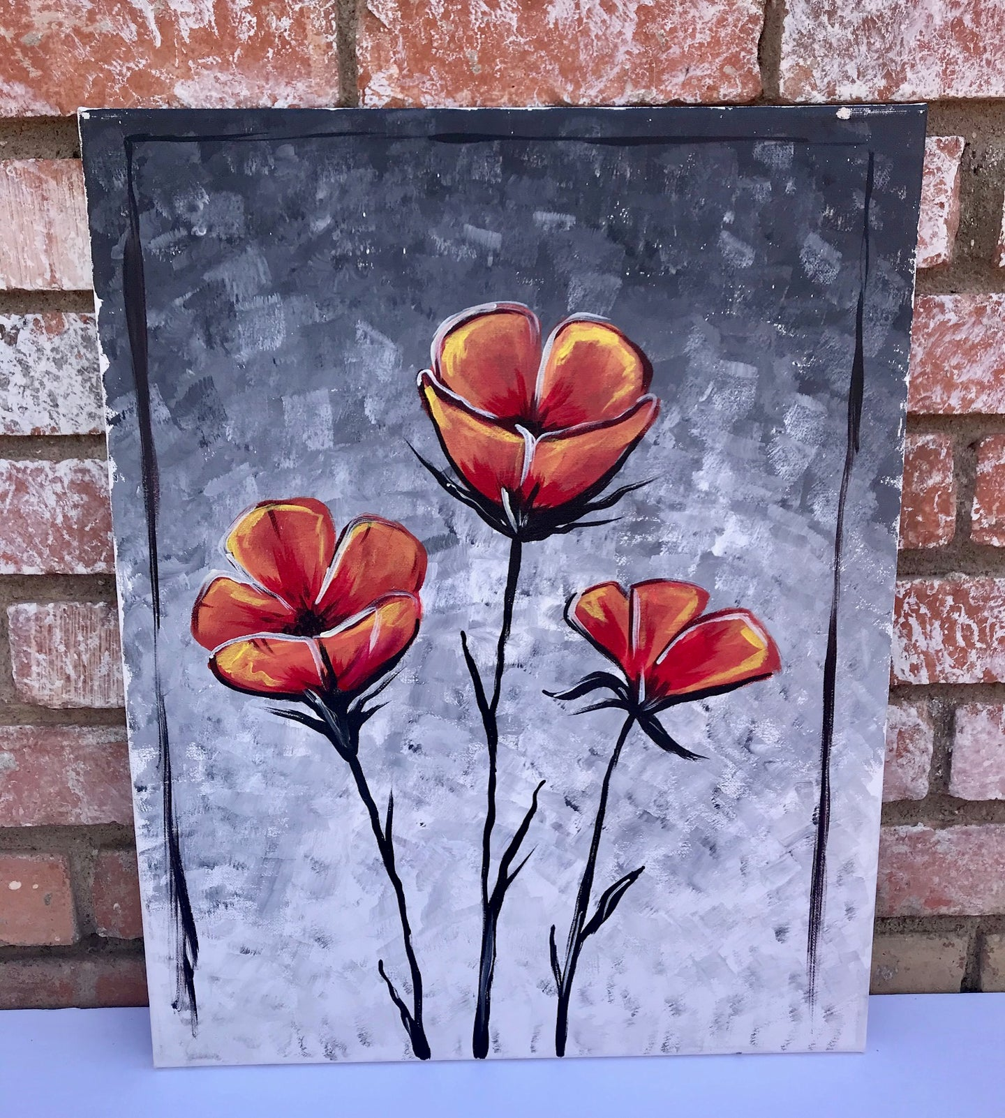Gray Poppies Painting Kit