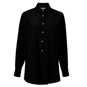 Winona Black Relaxed Shirt