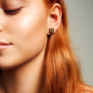"The ""M"" Convertible Dalmation Earrings"