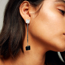 "Load image into Gallery viewer, The ""M"" Convertible Earrings Black tourmaline"