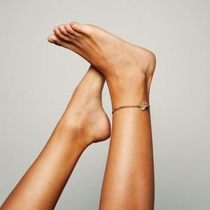 The Raw One Anklet Rough quartz