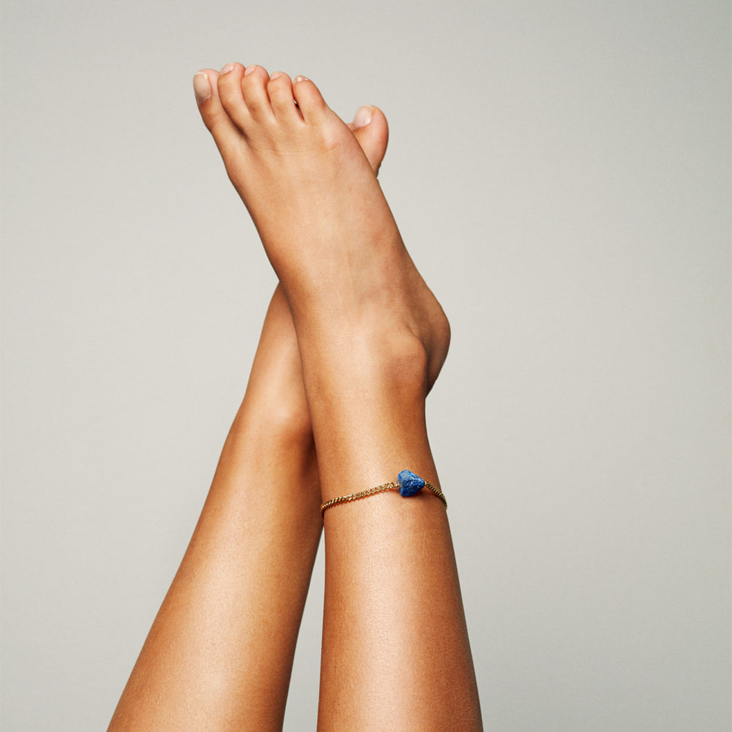 The Raw One Anklet Lapis lazuli