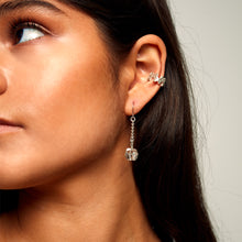 Load image into Gallery viewer, MMM EAR CUFF Brushed Sterling Silver
