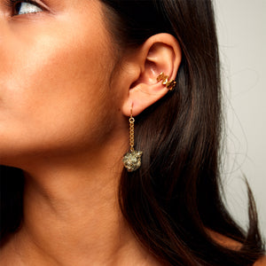 MMM EAR CUFF 18 carat gold vermeil brushed