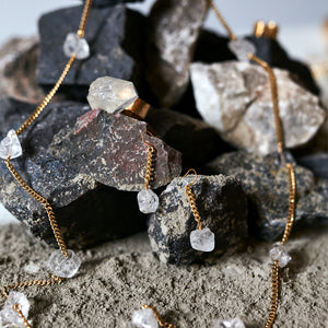 Lucky 13 Rough Quartz Necklace
