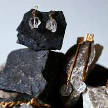 Load image into Gallery viewer, The Raw One Rough Quartz Earrings