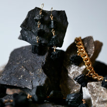 Load image into Gallery viewer, XXX Black Tourmaline Earrings