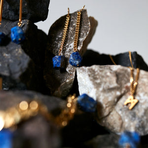 Keep Me Hanging Lapis Lazuli Earrings