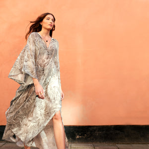 Florence Feathered Quartz Relaxed kaftan