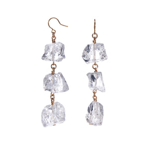 XXX Rough Quartz Earrings