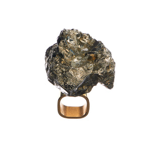 Art Ring Pyrite
