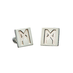 "The ""M"" Convertible Earrings Calcite pyrite"