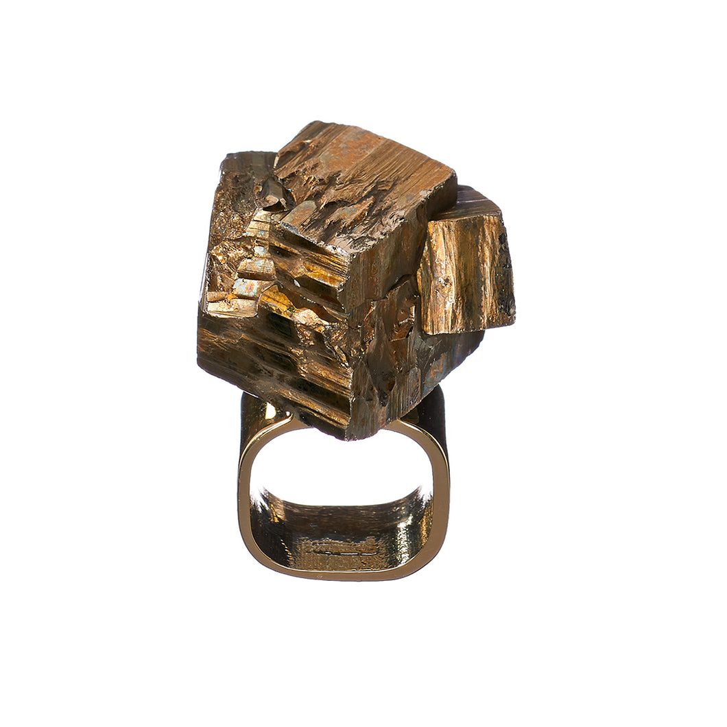 Roxx Pyrite Asymmetrical Ring