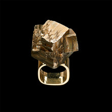 Load image into Gallery viewer, Roxx Pyrite Asymmetrical Ring