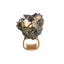 Load image into Gallery viewer, Roxx Pyrite Crystal Ring