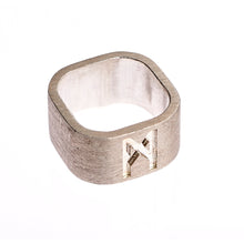 Load image into Gallery viewer, Signature Ring Mens Silver Brushed