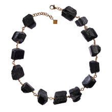 Load image into Gallery viewer, Not A Pearl Necklace Black Tourmaline