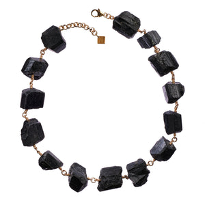 Not A Pearl Necklace Black Tourmaline