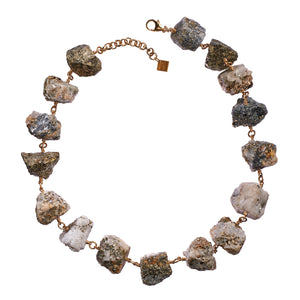 Not A Pearl Necklace Calcite/Pyrite