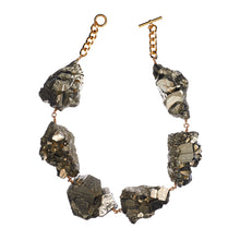 Load image into Gallery viewer, Not a Pearl Necklace XXL Art Edition Pyrite Crystal