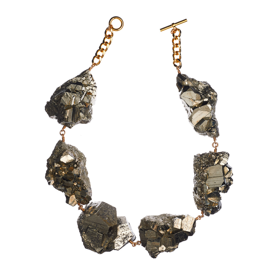 Not a Pearl Necklace XXL Art Edition Pyrite Crystal