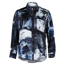 Load image into Gallery viewer, Smith Boyfriend Shirt Galena Abstract