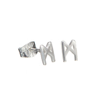Load image into Gallery viewer, Signature earrings polished silver 5mm
