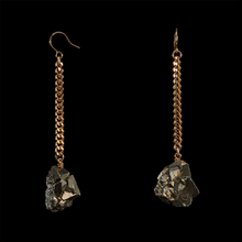 Load image into Gallery viewer, Keep Me Hanging Pyrite Crystal Earrings