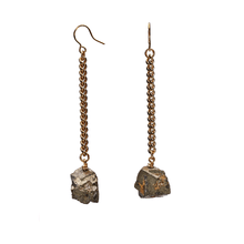 Load image into Gallery viewer, Keep Me Hanging Pyrite Earrings