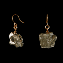 Load image into Gallery viewer, The Raw One Pyrite Earrings
