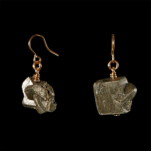 The Raw One Pyrite Earrings