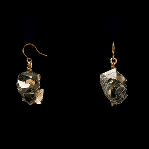 The Raw One Pyrite Crystal Earrings