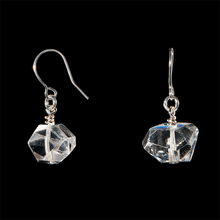 Load image into Gallery viewer, The Raw One Clear Quartz Earrings