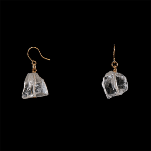 The Raw One Rough Quartz Earrings
