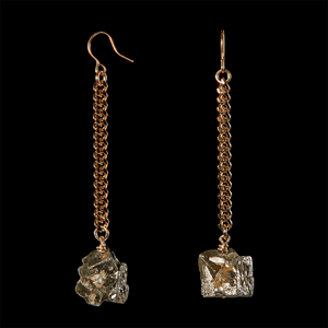 Keep Me Hanging Pyrite Earrings