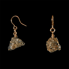 Load image into Gallery viewer, The Raw One Calcite/Pyrite Earrings
