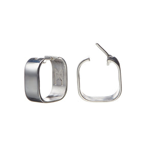 Signature Creole Earrings polished silver