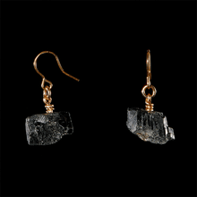 Load image into Gallery viewer, The Raw One Black Tourmaline Earrings