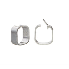 Load image into Gallery viewer, Signature Creole Earrings brushed silver