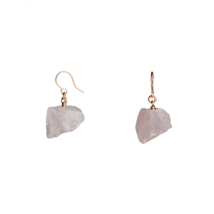 The Raw One Rose Quartz Earrings