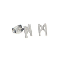 Load image into Gallery viewer, Signature earrings brushed silver 5mm
