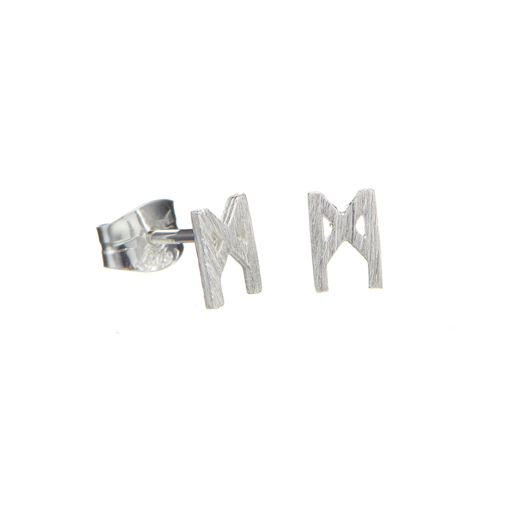 Signature earrings brushed silver 5mm